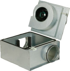 Вентилятор KVO 160 для круглых каналов