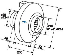 Вентилятор RVK100-125 для круглых каналов