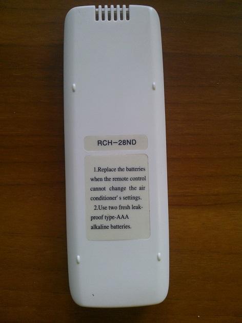 Пульт управления кондиционером Tadiran RCH-28ND